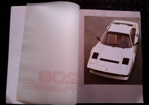 Brochure Ferrari 208 TURBO (2)