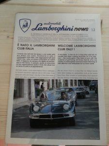 Giornalino automobili Lamborghini 12