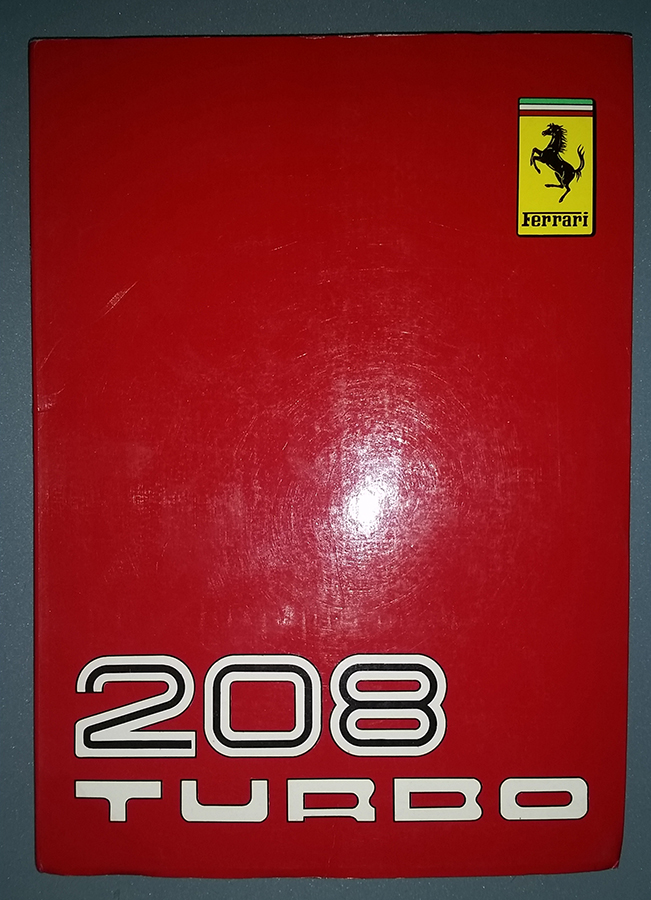 ferrari 208 turbo owner s manual emilio spare parts rh emiliospareparts com Owners Manual 2012 Ferrari FF 2012 Ferrari FF Parts Manuals